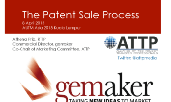 Presentation AUTM Asia: The patent sales process – a case study