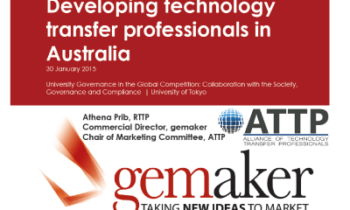Presentation: Developing technology transfer professionals in Australia