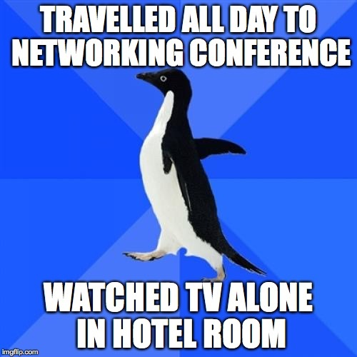 Networking tips for socially awkward penguins